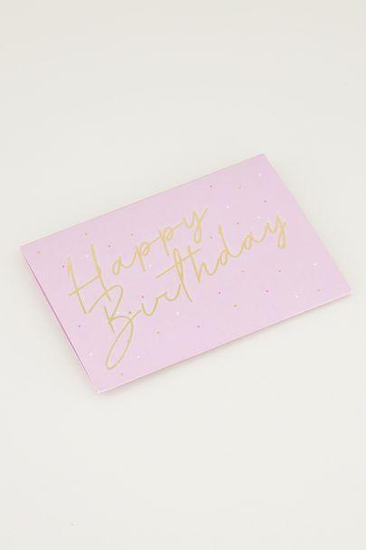 Giftcardholder Happy birthday, verjaardagscadeau