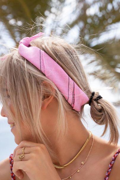 Roze sjaaltje bandana print