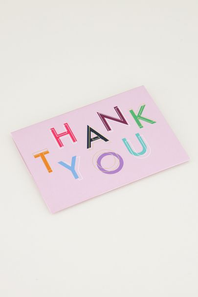 Giftcardholder Thank you