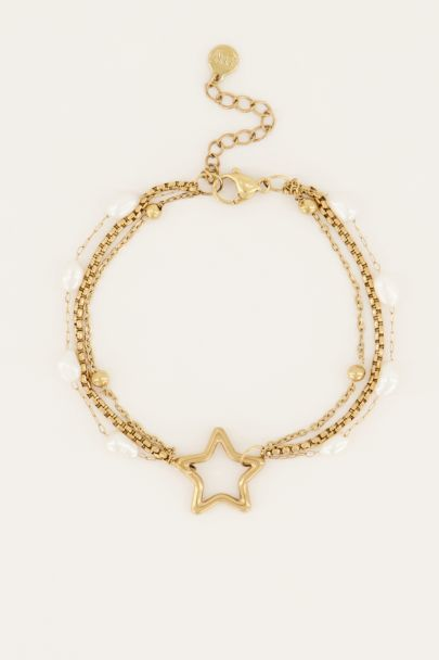 Shapes armband parels & ster