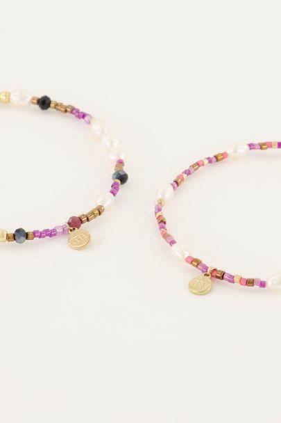 Shapes Perlenarmbänder-Set Rosa