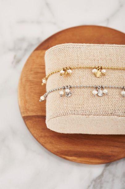 Shapes armband parels & rondjes