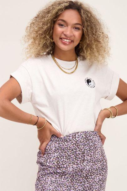 Beige shirt yin yang