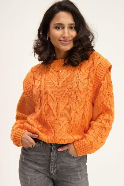 Oranje kabeltrui met schouderstuk