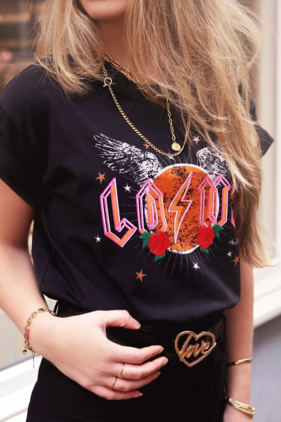 Zwart shirt love