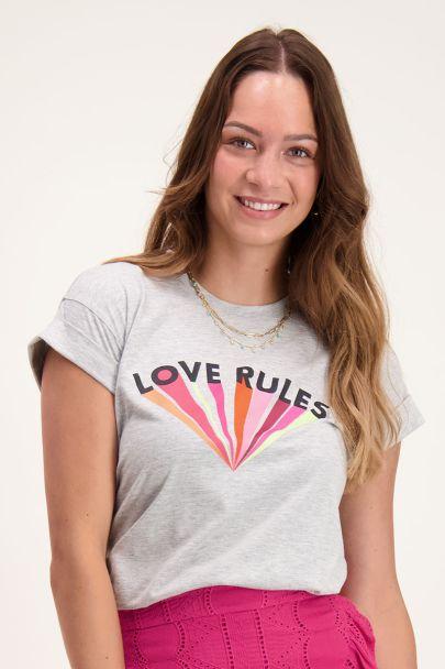 Grijs shirt love rules