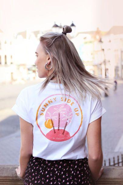 Wit shirt sunny backprint