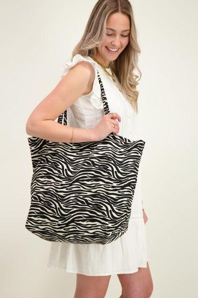 Tote bag with zebra print
