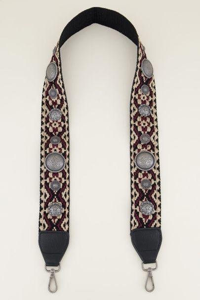 Paars tassenhengsel bohemian | Tashengsel bij My Jewellery