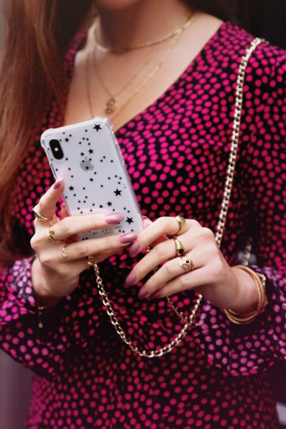 Phone case with tiny stars