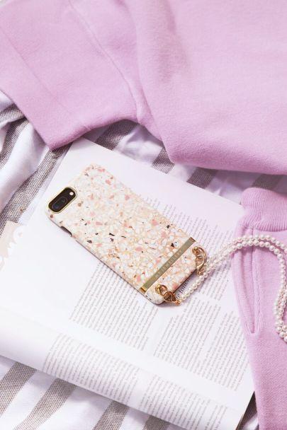 Roze telefoonhoesje terrazzo
