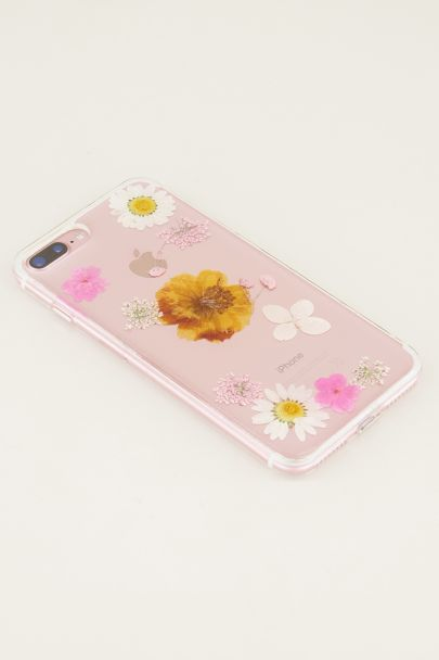 Telefoonhoesje gedroogde bloemen | Telefoonhoesje My Jewellery