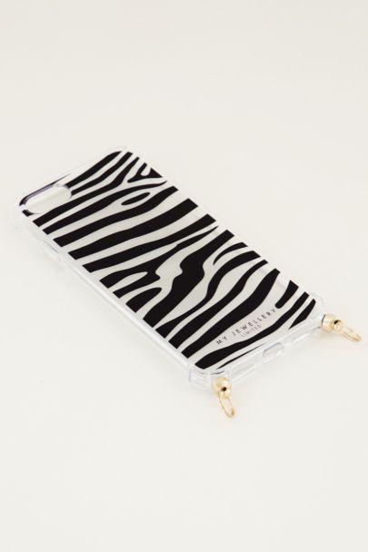 Telefoonhoesje zebra, telefoonhoesje met koord