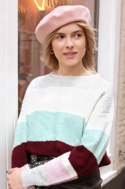 Light pink beret