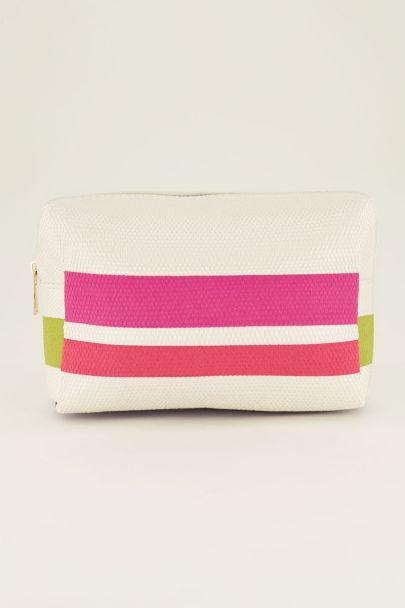 Coloured stripes toilet bag