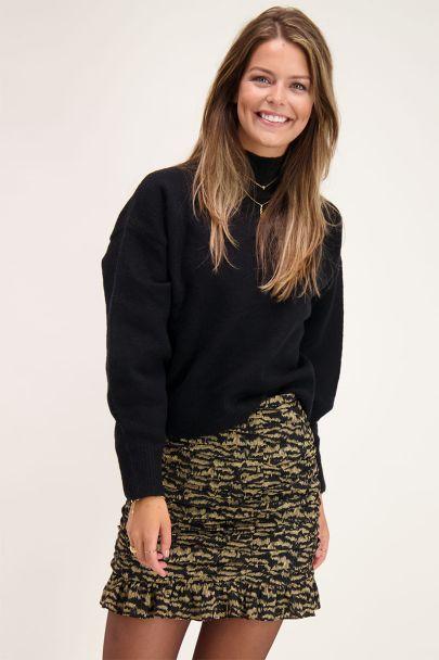 Oversize Pullover in Schwarz