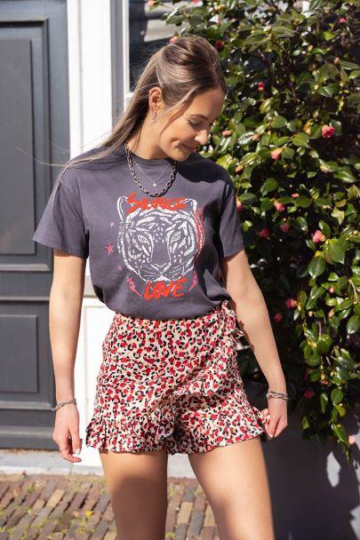Grijs T-shirt Savage Love