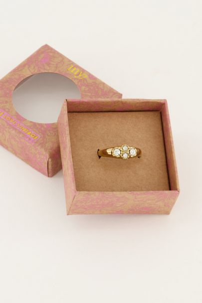Vintage cluster ring kristal