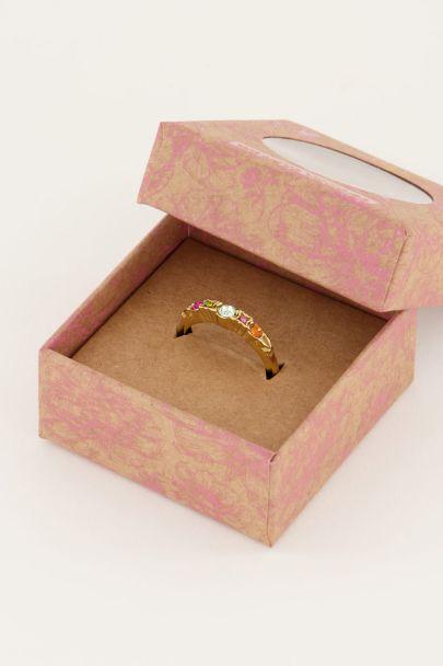 Vintage klassieke ring multikleur