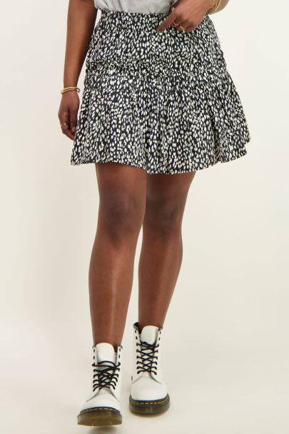 Zwart-witte rok met smock & cheetah
