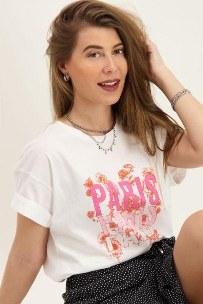 Wit T-shirt Paris