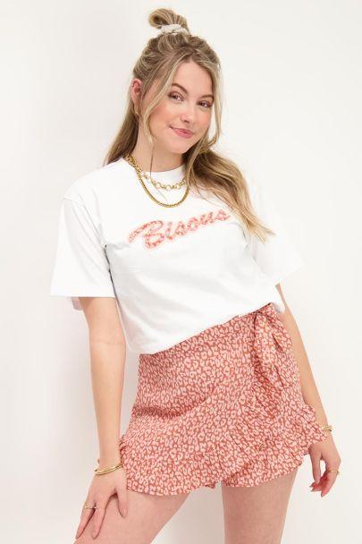 Wit T-shirt Bisous