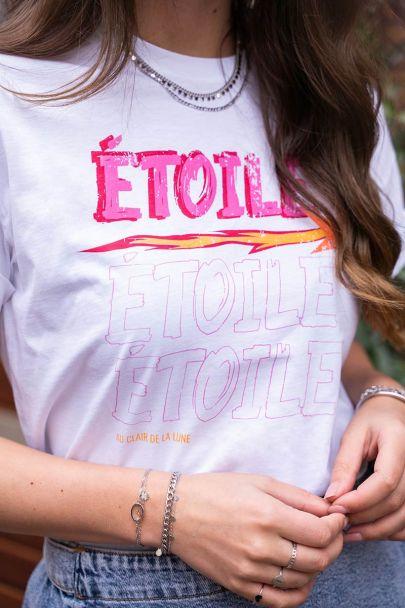 Wit T-shirt étoile