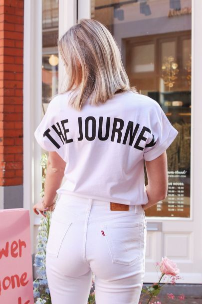White the journey T-shirt