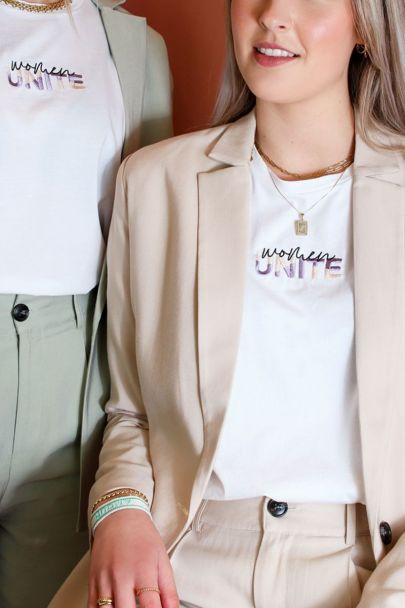 Wit T-shirt women unite