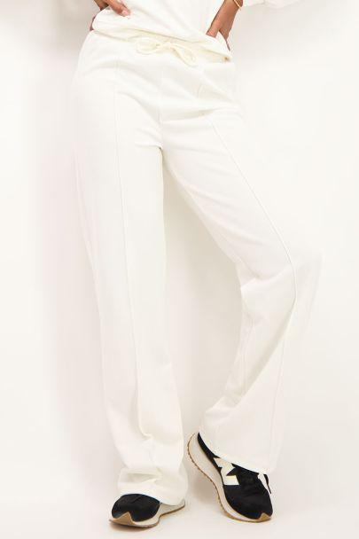 Witte joggingpantalon