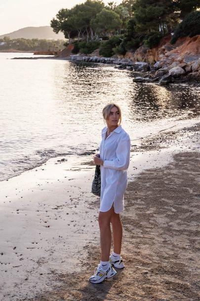 White blouse dress