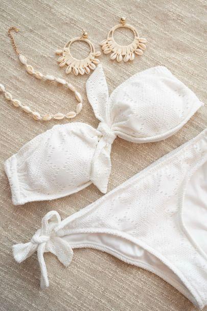 Witte embroidery bikini top