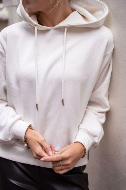 White hoodie with My Jewellery logo