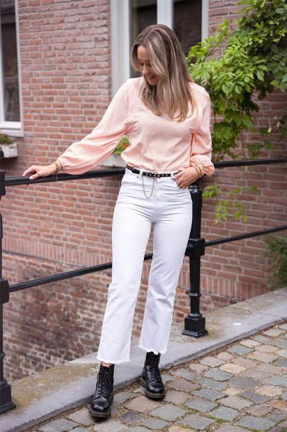 Witte straight fit jeans