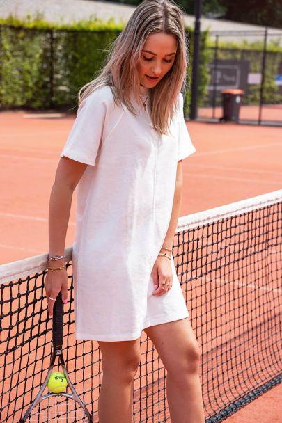Witte sweater dress