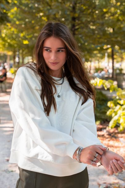 Witte sweater reveuse