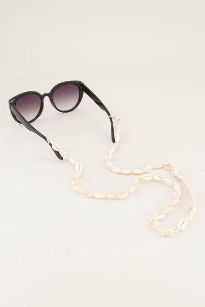 Zonnebrilkoord schelpjes | Zonnebrilkoord My jewellery