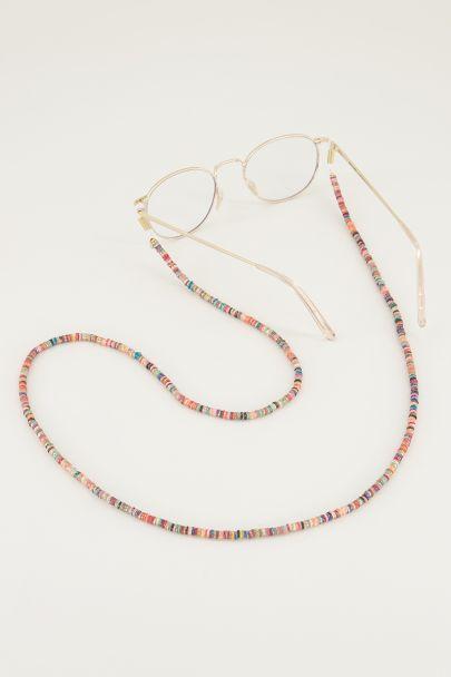 Multi-coloured sunglasses cord with glitter beads