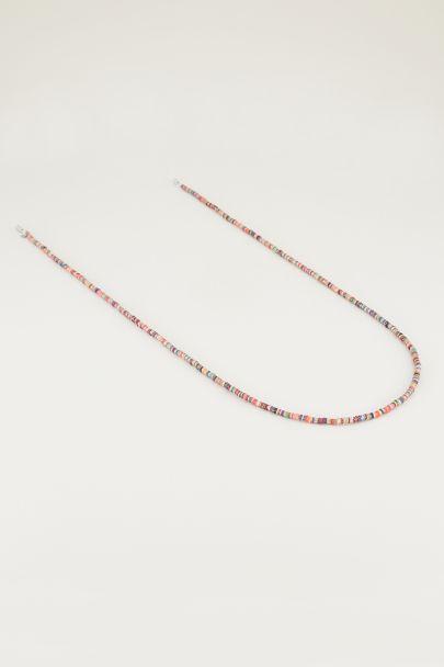 Multi-coloured sunglasses chain with glitter beads, sunglasses chain
