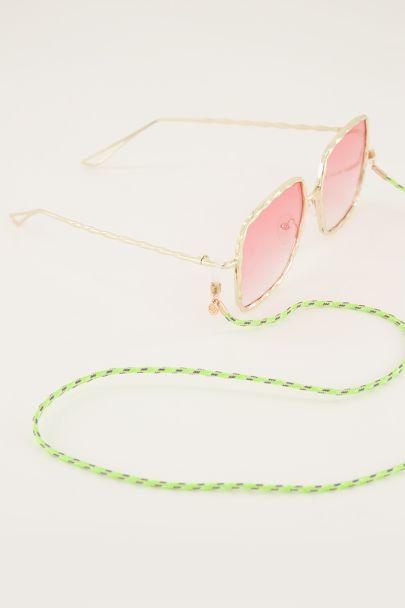 Groen brillenkoordje gedraaid touw