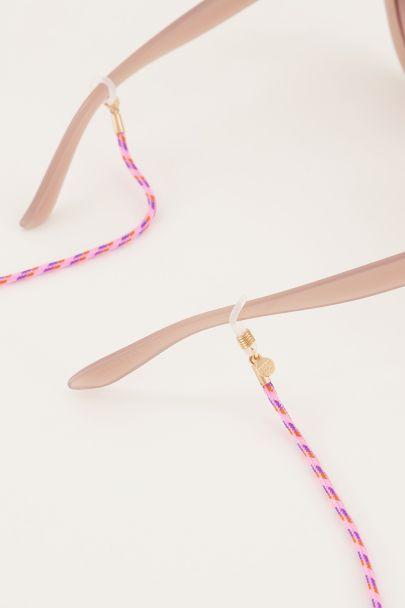Purple eyeglass cord twisted rope