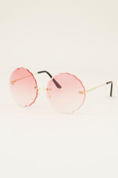 Ronde zonnebril | Zonnebril roze glazen | My Jewellery