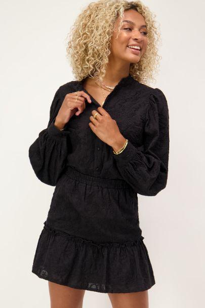 Zwart rokje embroidery