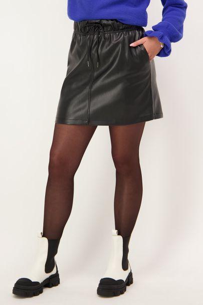 Zwart rokje leatherlook