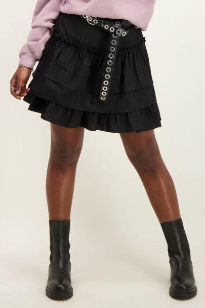Zwarte lagen rok