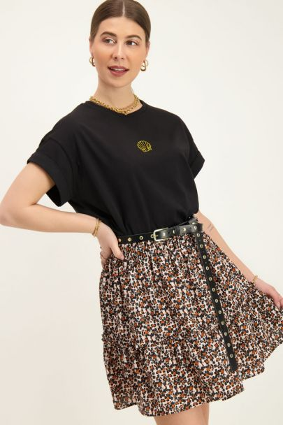 Black T-Shirt with shell