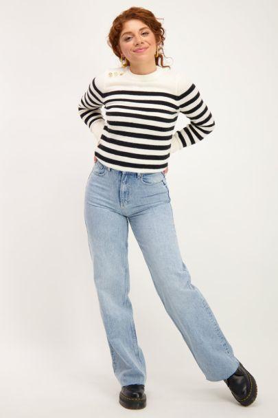 Zwart-wit gestreepte trui