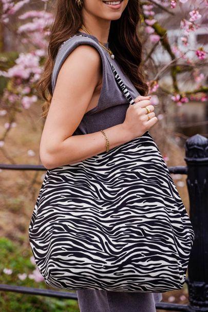 Shopper met zebraprint