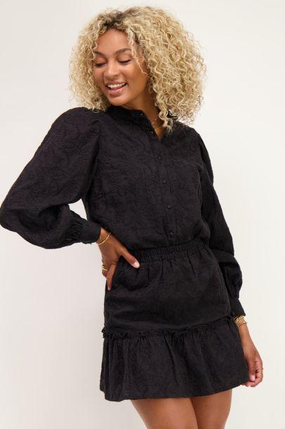 Zwarte blouse met embroidery