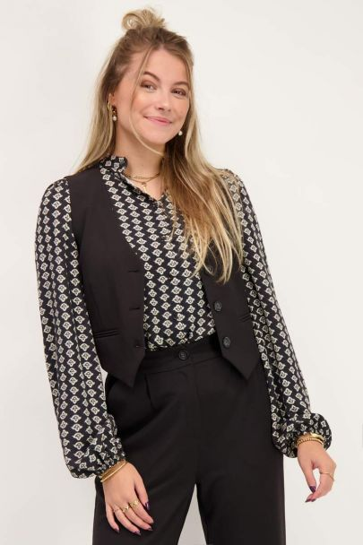 Black gilet with buttons